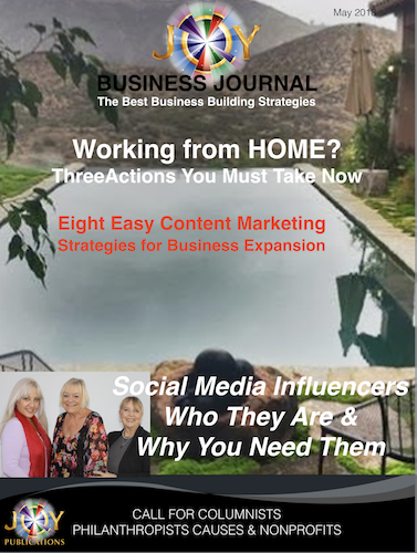 Content Marketing Magazine Joy Business Journal Cover Image